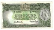 1961 Australia One Pound Coombs/wilson Star Note Ef Lightly Pressed He 8949483