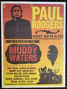 Paul Rodgers Muddy Waters 18x24 Promo Poster Jeff Beck Pink Floyd Queen Gnr Yes