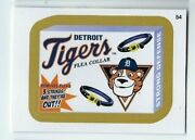 2016 Wacky Packages Mlb Baseball Gold Parallel 54 Detroit Tigers Flea Collar