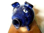 Dal Burtchaell Face Jug Pottery Folk Art Pig Bank 11and039and039long X 7and039and039wide