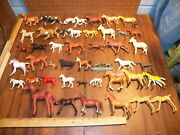 Vintage Lot Of 45 Plastic Toy Horses
