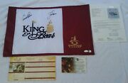 Rare Signed Jack Nicklaus And Arnold Palmer King And Bear Pin Flag 2x Certified Jsa