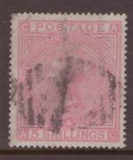 1867 5 Shillings Rose Anchor Wmk Sg 134 Plate 4cat Andpound4200 Fine With No Faults