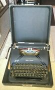 Vintage Smith-corona Sterling 1947 Portable Typewriter With Glass Keys