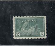 Canada 272 Vf-mlh 50cts Dark Green Logging Kgv1 Peace Issue Cat Value 20