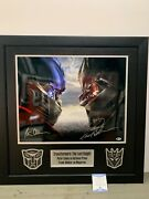 Peter Cullen And Frank Welker Dual Autographed 16x20 Custom Frame Transformers Bas