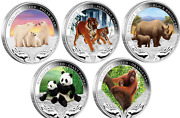 2011 2012 Wildlife In Need Complete Set - 5 X 1oz Silver Proof Coins