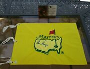 Holy Grail Signed Gary Player 1997 Masters Flag Tigers First Win Gai Certified