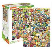 New Aquarius Jigsaw Puzzles Deluxe 3000 Piece Puzzle - Nickelodeon Cast Collage