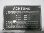 Nameplate Attention Sdkfz German Armed Forces Wk Ww 2 Ii Lorry Army Airforce S51