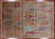 6and039 9 X 9and039 4 Tribal Gabbeh Hand Knotted Area Rug - Q3290