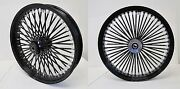 Dna Mammoth 52 Fat Black Spoke Wheels 23x3.5 And 18x4.25 Road Glide Touring Harley