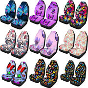 Fashion Butterfly Design Car Seat Covers For Women Ladies Front Seats Set 2 Pcs