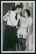 French Biederer Male Whip And Nude Slave Woman Original Old C1925 Photo Postcard