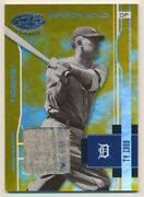 2003 Leaf Certified Materials Mirror Gold Materials Ty Cobb 2/5 Tigers E10318