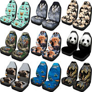 Animal Design Car Seat Covers Front Seats Only Full Set Of 2pc Universal Fit
