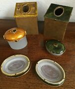 Mike And Ally - Vintage Genuine Tiger Eye Bath Accessory Sets