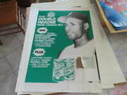 1980's Roberto Clemente Pittsburgh Pirates Canada Dry Display With Coupon