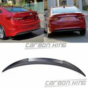 Unpainted Fit For Hyundai Elantra Ad 6th 4d V Type Trunk Boot Spoiler 16+