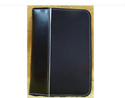 Microfiber, Black Bible Cover W/ Silver Edge For Thin-line Sized Biblebrand New