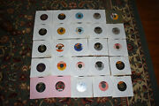 Lot Of 25 Oldies 45's. Vg+ To Nm Aretha/doors/beatles/beach Boys/drifters