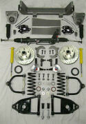 1953-56 Ford F100 Mustang Ii Power Front End Suspension Ifs Stock Black Wilwood