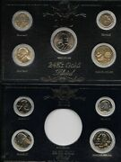 2000 And 2001 Gold Plated Presidential Mint Set Edition