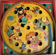 Vintage Toy - Comic Animals Pin Ball Game  Made In Japan 1950's