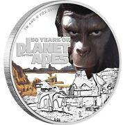 2018 Planet Of The Apes 50 Years 1oz Silver Proof Coin Perth Mint