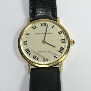 Vintage 18k Gold And Co. Girard Perregaux Automatic Mens Wrist Watch
