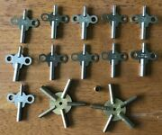 Vintage Grandfather Clock Keys 3.25, 3.50, 3.75, 4.0. Parts - New Old Stock