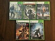 Lot 5 Xbox 360 Halo 4 Battlefield 3 Crysis 2 Limited Ed Fallout 3 Gears Of War 2