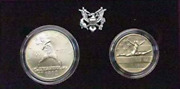 1992 United States Olympic Commemorative Two-coin Set In Ogp Bu 1 And 50c