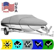Gray Boat Cover For Alumacraft Trophy 185 O/b 2013 2014 2015 2016