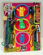 Charms Cats Toys Jewelry Mix Block Old Gumball Vending Machine Display Card 327