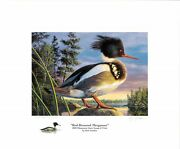 Minnesota 24 2000 Duck Stamp Print By Kim Norlien Color Remarque Ap + 2 Stamps