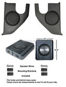 1967-1972 Chevy / Gmc Truck Kick Panels With Speakers Installed + Speaker Boxes