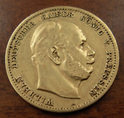 Germany Prussia 1874 A Gold 10 Mark Xf