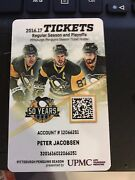 2016-17 Pittsburgh Penguins Season Ticket Card Stub Stanley Cup Playoffs Rare