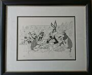 Al Hirschfeld After The Show Limited Edition Art Signed Looney Tunes Bugs Taz