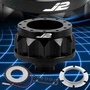 J2 For 92-01 Civic Integra 6-hole Black Steering Wheel Hub Adapter Replacement