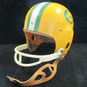 Vintage 1960's Macgregor Youth Packers Football Helmet W/ Leather Chin Strap