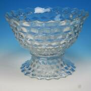 Fostoria Glass - American - Crystal Punch Bowl On Pedestal - 13½ Inches