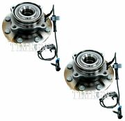 New Pair Set Of 2 Front Timken Wheel Bearing And Hub Kits For Chevrolet Gmc Rwd