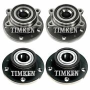 Front And Rear Wheel Bearing And Hub Assy Kit Timken For Vw Passat Jetta Cc Fwd