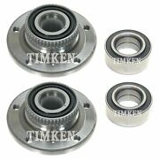 New Front And Rear Wheel Bearings And Hubs Kit Timken For Bmw E36 318ti Z3 Rwd