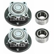 Front And Rear Wheel Bearings And Hubs Kit Timken For Bmw E90 E92 E93 328i 335i Rwd