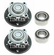 Front And Rear Wheel Bearings And Hubs Kit Timken For Bmw E92 E93 328i E89 Z4 Rwd