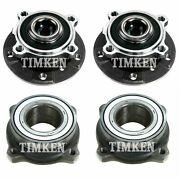 Front And Rear Wheel Bearings And Hubs Kit Timken For Bmw E60 525i 530i 550i Rwd