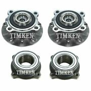 Front And Rear Wheel Bearings And Hubs Kit Timken For Bmw E39 525i 530i 540i Rwd
